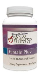 Female Plus contains nutrition for women. Helpful nutrient support for menstrual cycles or menopause. Helps alleviate hot-flashes, promotes hormonal balance, includes nutrients for healthy adrenal function.