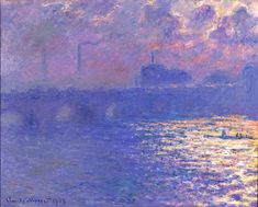 Claude Monet (French, 1840–1926)  Waterloo Bridge, Sunlight Effect, ca. 1900 (dated 1903)  Oil on canvas  29 1/16 x 38 5/8 in. (73.82 x 98.11 cm)  Bequest of Mrs. Albert T. Friedmann M1950.3   Photo credit John R. Glembin