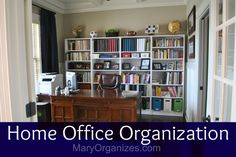 Home Office Organization: The Reveal (Organizing this office was my husband's birthday gift. Organize or clean a space as a special homemade gift! Diy Organisation, Spring Cleaning Organization, Home Office Organization, Organizing Your Home, Home Office Design, Home Office Decor, Office Ideas, Home Decor, Home Management
