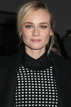 Diane Kruger with a relaxed updo
