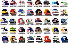 1990 helmets by on DeviantArt Racing Helmets, F1 Racing, Derek Warwick, Michele Alboreto, Arai Helmets, Nigel Mansell, Alain Prost, Motorcycle Men, Formula 1 Car