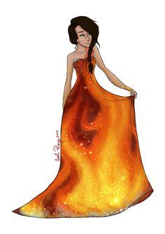The Girl On Fire by JadeAriel on deviantART