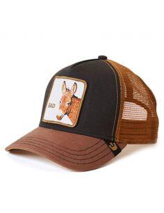 ad8ce76f120c5 Goorin Bros. Bad Ass Trucker cap - Black Brown Mens Trucker Hat, Shirt  Outfit