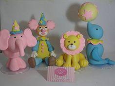 Enfeites de Mesa SuperSize Circo Cute   Maria Cria - Arte e Festas   32D1A2 - Elo7