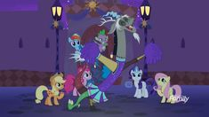 """""""Let's go, team! Fluttershy, Discord, Animal Meeting, Discovery Family, Family Logo, Mlp Comics, Cheerleading Outfits, Rainbow Dash, Summer Sun"""