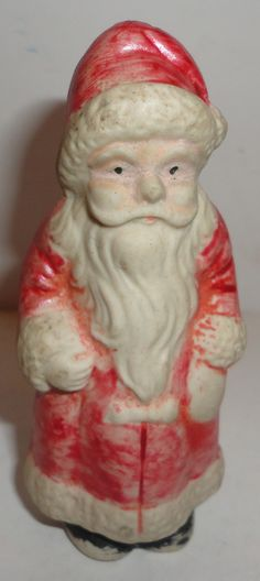 Vintage Antique Christmas Bisque Santa Claus Figure Figurine