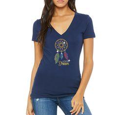 55bc713020318 Lucky Dream V Neck T-Shirt. Made by Lucky gambler.