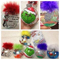 Dr Seuss Christmas ornaments!