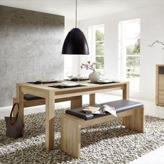 Rozkládací jídelní stůl 29 26 BB 01. Rozkládací funkce - 2 prodlužovací desky á 40 cm. Možné prodloužení ze 160 cm na 200 a 240 cm. Provedení: deska stolu - odolný melamin buk. Podnoží - buk imitace. Dining Bench, Furniture, Home Decor, Bebe, Decoration Home, Table Bench, Room Decor, Home Furnishings, Home Interior Design