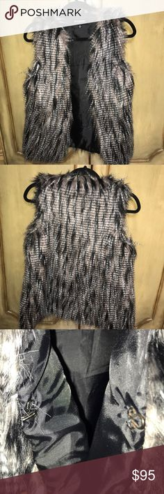 Santa Fe Apparel-Coffeeshop fur vest In perfect condition. Extremely soft fur and amazing fit CoffeeShop Jackets & Coats Vests