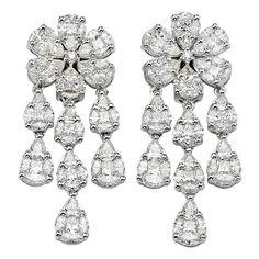 Gorgeous Illusion Set Chandelier Earrings