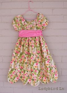 Easy Easter dress for baby, toddler, young children