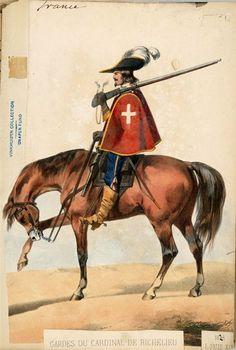 GARDES DU CARDINAL DE RICHELIEU Thirty Years' War, The Three Musketeers, French Army, Modern Warfare, War Machine, Ancient Art, 17th Century, Illustration, Medieval