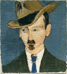 Portrait of a Man with Moustache and Hat - Felix Nussbaum c.1925