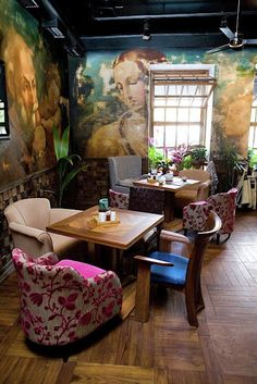 Restaurant Interior Design By Belenko/mixed furniture | #restaurantdesign…