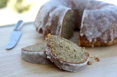 zucchini cake with crunchy lemon glaze