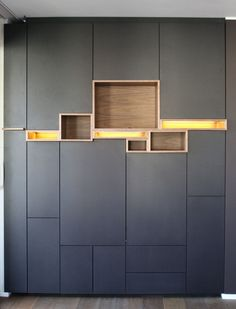 Filip Janssens Wooden Wardrobe, Wardrobe Doors, Wardrobe Closet, Living Room Units, Furniture Design, Home Furniture, Shelving Design, Wardrobe Design, Cabinet Design