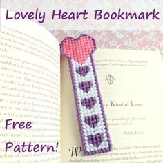 Lovely Heart Bookmark, Free Plastic Canvas Pattern, 1/3