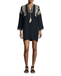 Vinny Embroidered Tassel Tunic by Isabel Marant Etoile at Bergdorf Goodman.