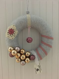 Ornament Wreath, Ornaments, Hanukkah, Wreaths, Home Decor, Decoration Home, Door Wreaths, Room Decor, Christmas Decorations