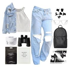 """""""name change?!? rtd"""" by e-xtinct ❤ liked on Polyvore featuring Converse, Muse, WithChic, H&M, Diptyque and ...Lost"""