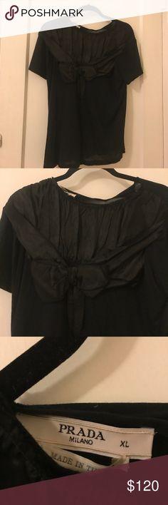 PRADA Bow Blouse Beautiful Prada bow blouse. Fits like a medium Prada Tops Blouses