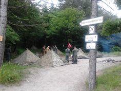 Passo del Giogo, ricostruzione di un campo di battaglia della 2ª Guerra Mondiale.. accampamento tedesco.