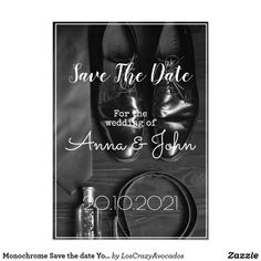 Monochrome Save the date Your Text Postcard Card