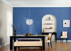 Suggestion for dining/living paint colors American Anthem/ Hazelnut Cream