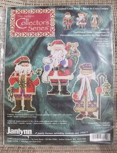 Janlynn Collector's Series Counted Cross Stitch Kit,Traditional Santa Ornaments #Janlynn