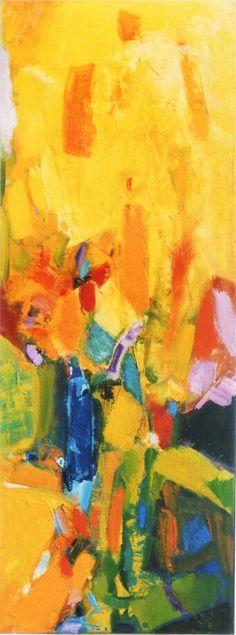 Alberto Boschi - Le stagioni vengono e vanno - Estate - olio su tela cm 120 × 45 - 2008