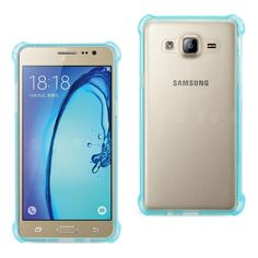 Reiko REIKO SAMSUNG GALAXY ON5/ J5 CLEAR BUMPER CASE WITH AIR CUSHION SHOCK ABSORPTION IN CLEAR NAVY