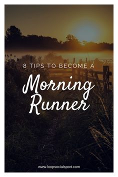 8 Tips to become a morning runner. Running tips for running motivation, building running habits and improving your running training. Running Diet, Running Humor, Running Motivation, Running Workouts, Running Training, Training Tips, Cardio Workouts, Running Gear, Workout Routines