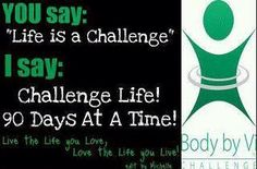 ViSalus is challenging the world to look at health differently...we challenge YOU to make your health a priority for at least 90 days using our Body by Vi Challenge kits, tools and community of support.   www.tracyf.bodybyvi.com