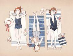 Sunbathing by Kelsey Garrity Riley Illustration