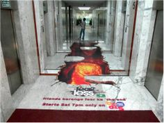 This Large Format Floor graphic was designed and installed for UTV Channel in India to promote its' show- 'Fearless'. Mens Leather Coats, Floor Graphics, Padded Hangers, Floor Stickers, Class Design, Leather Conditioner, Leather Cleaning, Floor Finishes, Large Format