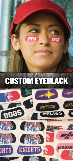 We've got you covered with Custom EyeBlack! You dream it, we design it - almost any logo, design, text, or idea is possible with our art department! Starting at 89 cents per pair (minimum 50 pairs) Baseball Party, Sports Party, Baseball Season, Softball Mom, Baseball Mom, Softball Stuff, Baseball Stuff, Softball Drills, Cheer Stuff