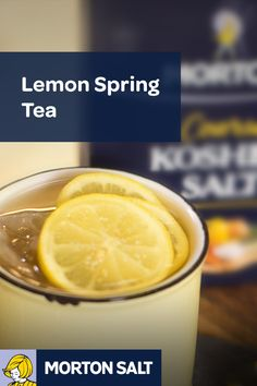 Lemon Spring Tea recipe // A refreshing start to any meal, this lemon spring tea is flexible to be a mid-day drink or served up as an adult beverage at night.