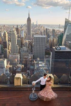 Top of the Rock Engagement Photos by Christian Oth Studio City Engagement Photos, Engagement Shoots, Engagement Inspiration, Wedding Inspiration, New York City Travel, Wedding Photoshoot, Farm Wedding, Wedding Decor, Dream Wedding