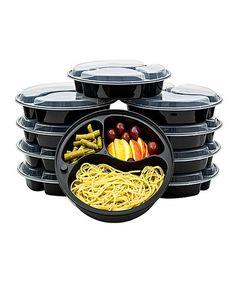 Another great find on #zulily! 20-Piece 3-Compartment Round Food Storage Container Set #zulilyfinds