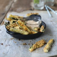 Baked Parmesan Courgette Fries by Nadia Lim | NadiaLim.com