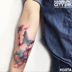 #Tattoo #Watercolourtattoo #Watercolour #Colour #Color #Colourtattoo #Colortattoo #Tatt #Hamburgtattoo #Tattooist #Tattooartist #Kosta #Hamburgcityink #Hamburgcity #HCI #Tattoostudio #Butterflys #Butterflytattoo #Schmetterlinge #Schmetterling #Schmetterlingstattoo