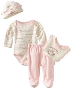 Vitamins Baby-Girls Newborn 4 Piece Creeper Pant Set - List price: $30.00 Price: $12.50 Saving: $17.50 (58%) + Free Shipping
