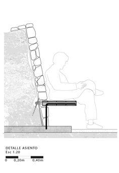 Imagen 38 de 38 de la galería de Mirador Asomo al Vacío: un espacio de contemplación hecho de gaviones. Detalle Asiento