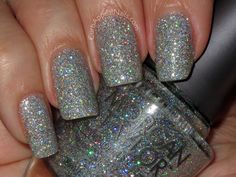 Morgan Taylor-Fame Game this polish is blinding silver holo glitter! You have to see it in real life to fully get just how blingy it is! #nailpolish #holopolish
