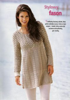 Crocheted Sweater. ||  DOES ANYONE KNOW THE LINK TO THIS PATTERN?! I LOVE THE TOP PART, AND WOULD LIKE TO TRY IT TWO WAYS...THE WAY IT IS, AND TO CARRY THE TOP PATTERN ALL THE WAY DOWN. BUT I CAN'T FIND THE PATTERN!!! =(  Help...Please! ♥A