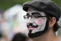 V for Vendetta face Paint