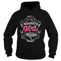 Awesome Tee 014-JUST A MASSACHUSETTS GIRL IN A FLORIDA WORLD T shirts