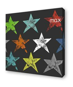 Take a look at this Rainbow Stars Personalized Canvas by Lex Modern on #zulily today!