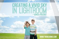 Creating a vivid sky in Lightroom + FREEBIE! | Two Blooms Lightroom Presets for Portraits